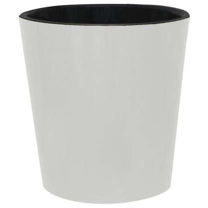 Горшок цветочный Фиджи белый 16 л 330 мм пластик с поддоном