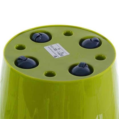 Горшок цветочный Фиджи салатовый 16 л 330 мм пластик с поддоном