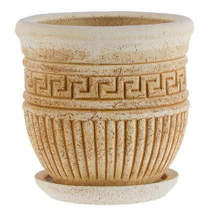 Горшок цветочный Ионик №1 3 л 200 мм шамотная глина