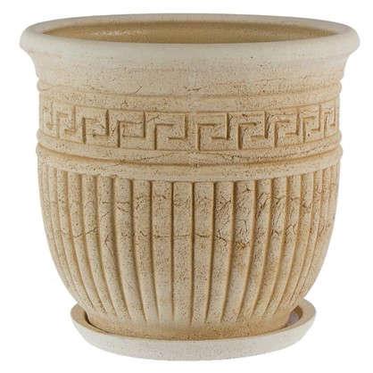 Купить Горшок цветочный Ионик №4 32 л 420 мм шамотная глина дешевле