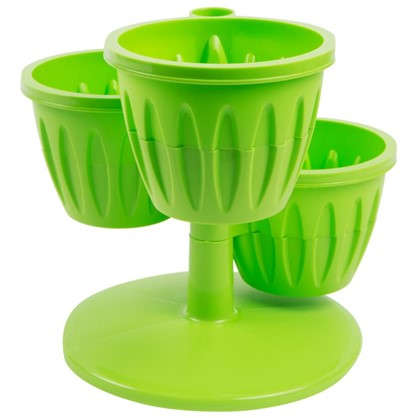 Горшок цветочный Каскад зелёный 0.7 л 290 мм пластик с поддоном