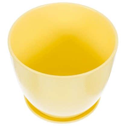 Горшок цветочный Колор гейм керамика 8.5 л 26 см цвет жёлтый