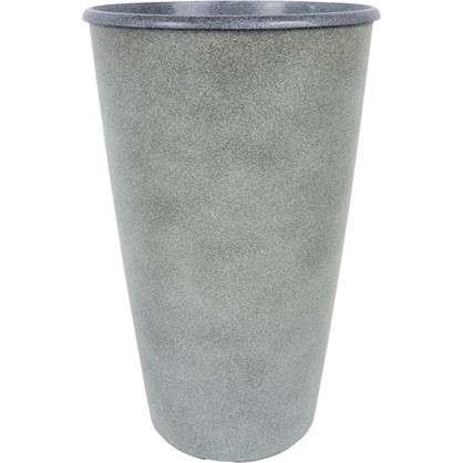 Горшок цветочный Коне графит 18.5 л 280 мм пластик