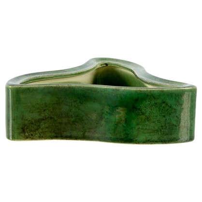 Горшок цветочный Медуза зелёный 110 мм керамика