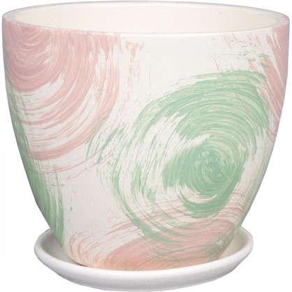 Купить Горшок цветочный Меланж №3 1.5 л 150 мм глина цвет синий дешевле