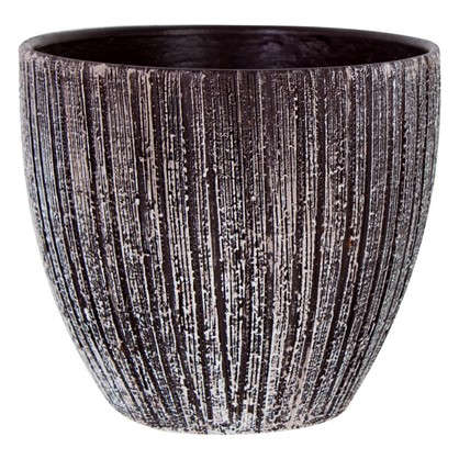 Горшок цветочный Меланж серый 2.6 л 180 мм керамика с поддоном