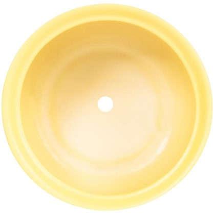 Горшок цветочный Орфей d19 см керамика цвет жёлтый
