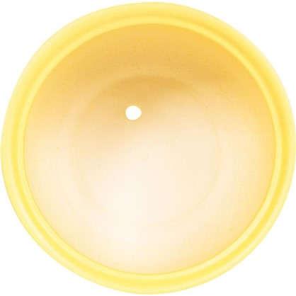 Купить Горшок цветочный Орфей d24 см керамика цвет жёлтый дешевле