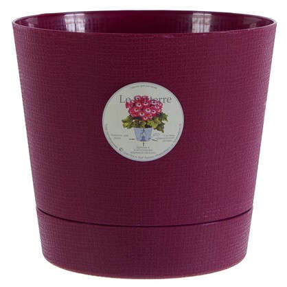 Горшок цветочный Партер бордовый 2.8 л 195 мм пластик