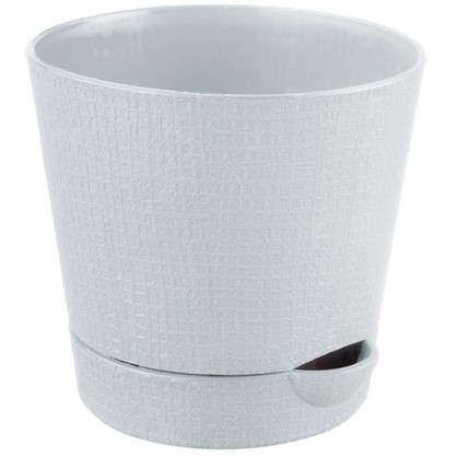 Купить Горшок цветочный Партер кремовый 0.35 л 95 мм пластик дешевле