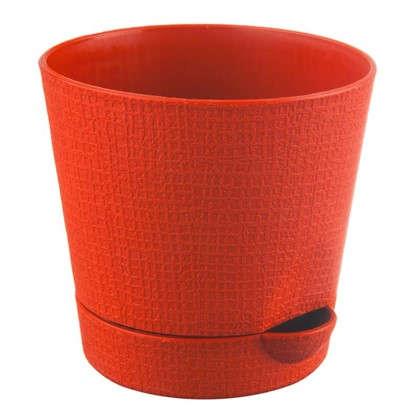 Горшок цветочный Партер оранжевый 0.35 л 95 мм пластик