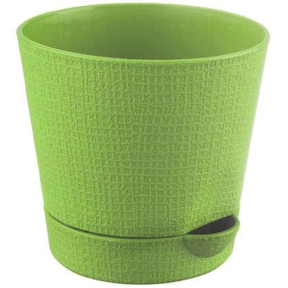 Горшок цветочный Партер зелёный 0.35 л 95 мм пластик
