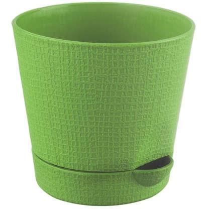 Купить Горшок цветочный Партер зелёный 2.8 л 195 мм пластик дешевле