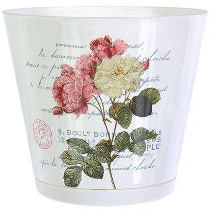 Горшок цветочный Прованс 3.6 л 200 мм пластик с поддоном
