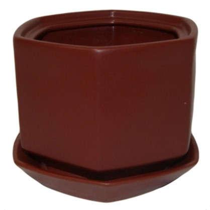 Купить Горшок цветочный Пуппи №2 0.8 л 120 мм глина цвет розовый дешевле