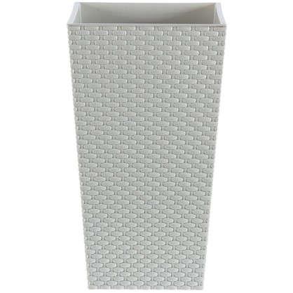 Горшок цветочный Ротанг белый 260 мм пластик