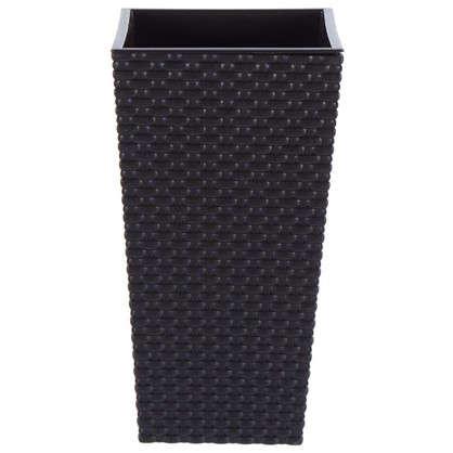 Купить Горшок цветочный Ротанг коричневый 200 мм пластик дешевле
