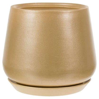 Горшок цветочный Скарлет 28 см керамика цвет золотистый