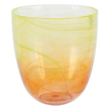 Горшок цветочный Современный жёлто-оранжевый 2 л 155 мм стекло