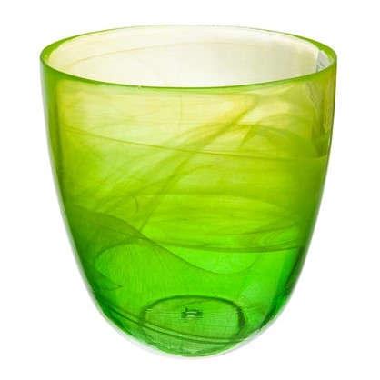 Горшок цветочный Современный жёлто-зелёный 2 л 155 мм стекло