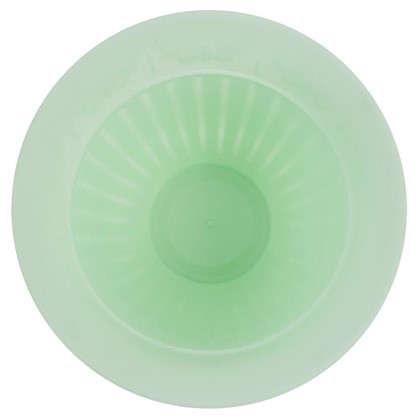Купить Горшок цветочный Виноград бирюзовый 2.25 л 250 мм пластик с поддоном дешевле