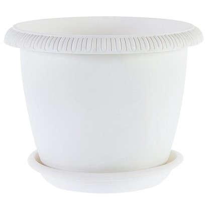 Горшок цветочный Жардин серый 5.5 л 250 мм пластик