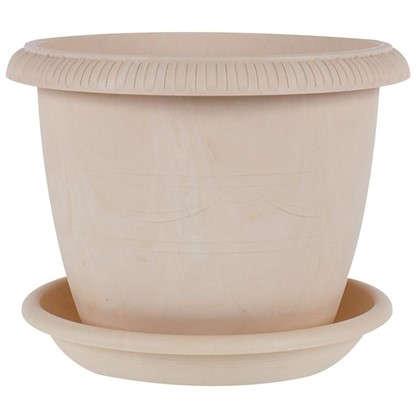 Купить Горшок цветочный Жардин золотой 1.6 л 150 мм пластик дешевле