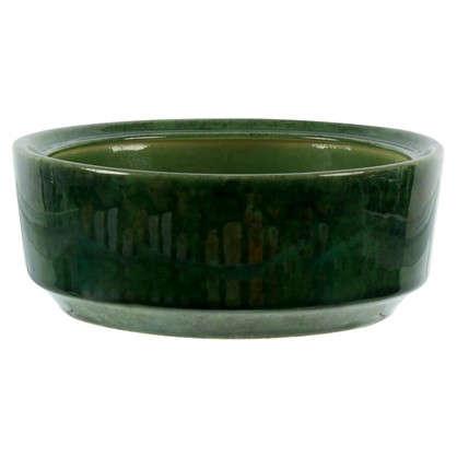Горшок для бонсаи зелёный 4.5 л 270 мм керамика