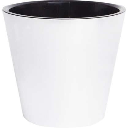 Горшок для цветов Фиджи 4 л 20 см полипропилен внутренней вставкой цвет серебристый