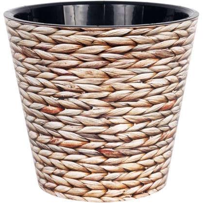 Купить Горшок для цветов Фиджи Плетение 23 см 5 л дешевле