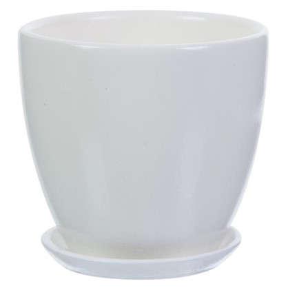 Горшок Колор гейм белый d12 см 0.8 л