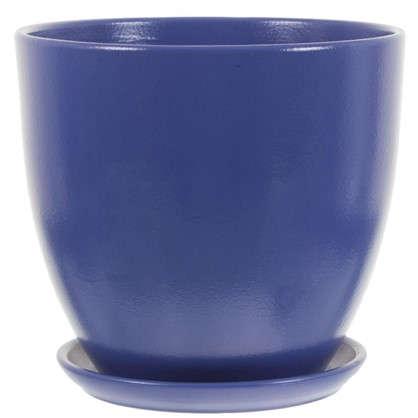 Горшок Колор гейм синий d26 см 8.5 л