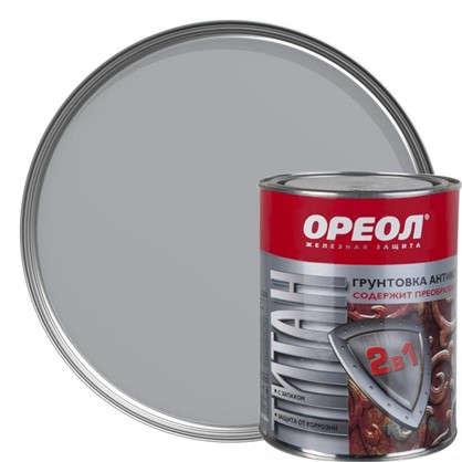 Купить Грунт 2 в 1 Ореол Титан цвет серый 0.9 кг дешевле