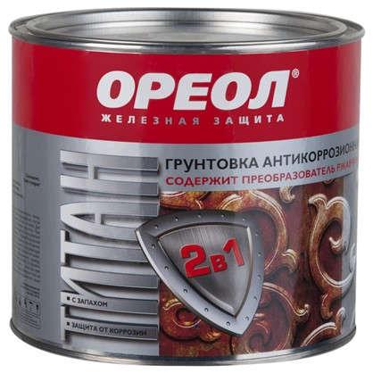 Купить Грунт 2 в 1 Ореол Титан цвет серый 1.9 кг дешевле