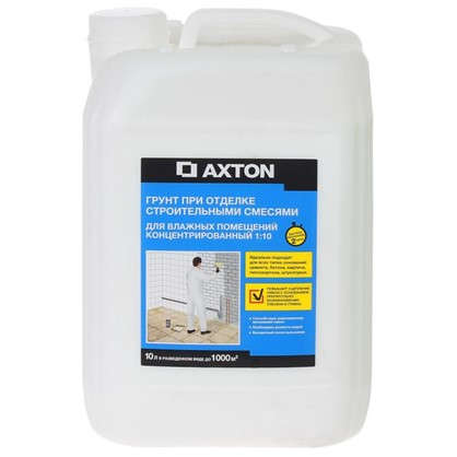 Грунт-концентрат для отделки строительными смесями для влажных помещений 10 л