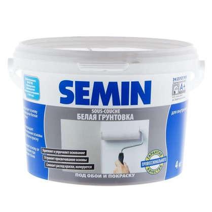 Грунт-краска Semin цвет белый 4 кг