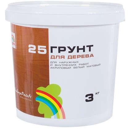 Грунт по дереву Радуга-25 3 кг цвет белый цена