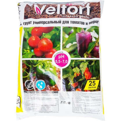 Грунт универсальный для томатов и перцев 25 л
