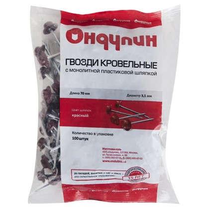 Гвозди для Ондулина цвет красный 100 шт.