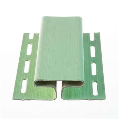 H-профиль для сайдинга 3 м цвет зеленый