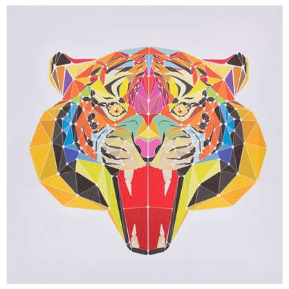 Холст 30х30 см Голова тигра