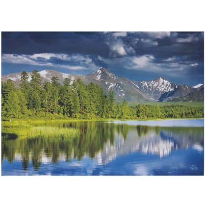Купить Холст 70х50 см Горное озеро дешевле