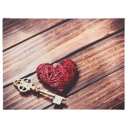 Холст Ключ от сердца 30х30 см