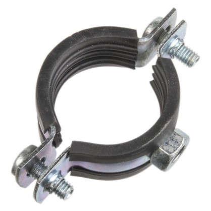 Хомут с резиновым уплотнителем и гайкой 32-35 мм