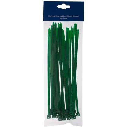 Купить Хомуты кабельные 200х4.8 мм цвет зеленый 25 шт. дешевле