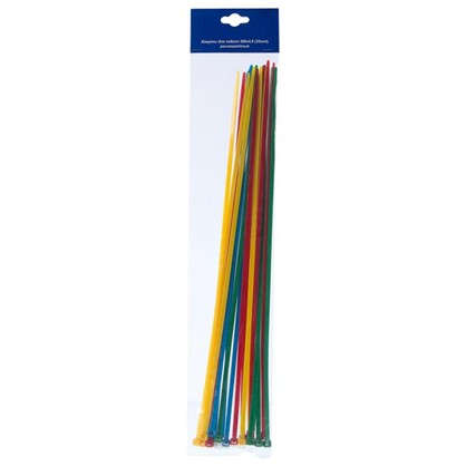 Хомуты кабельные 380х4.8 мм разноцветные 25 шт.