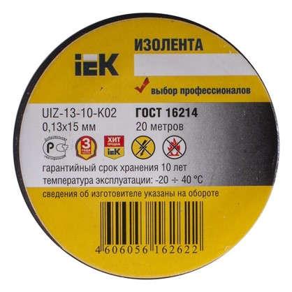 Изолента IEK Home 15 мм 20 м цвет чёрный