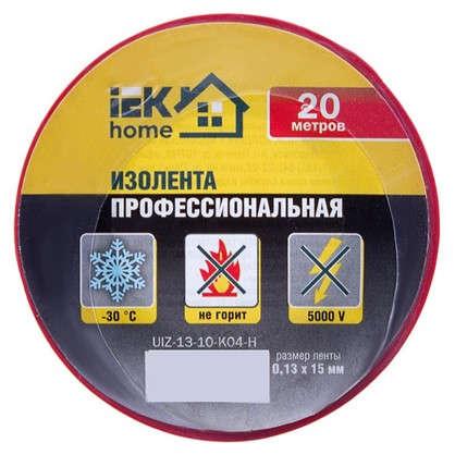 Изолента IEK Home 15 мм 20 м цвет красный
