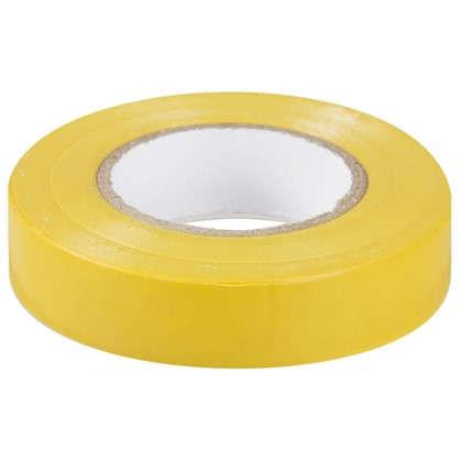 Изолента IEK Home 15 мм 20 м цвет жёлтый