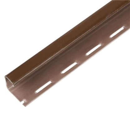 J-профиль для фасадных панелей Fineber цвет коричневый